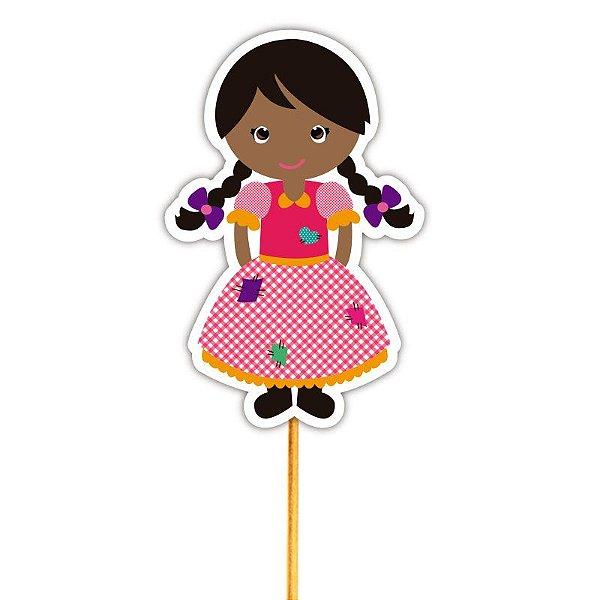 Enfeite Para Cupcake Menina Caipira 2