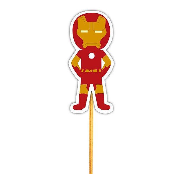 Enfeite Para Cupcake Justiceiro Homem de Ferro