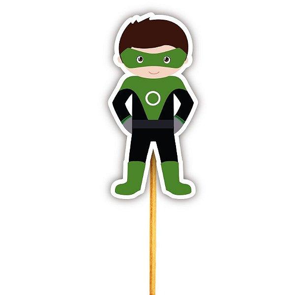 Enfeite Para Cupcake Herói Lanterna Verde