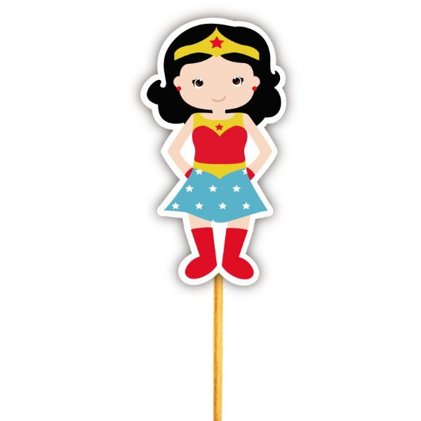 Enfeite Para Cupcake Heroína Mulher Maravilha
