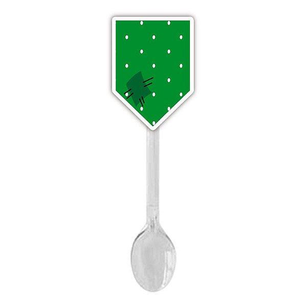 Colherzinha Para Brigadeiro Bandeirinha Verde