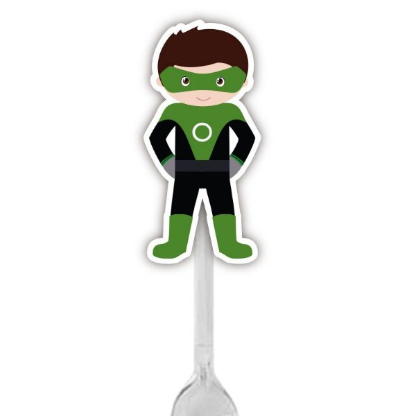 Colherzinha Para Brigadeiro do Super Herói Lanterna Verde