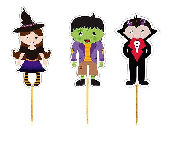 Enfeite Para Cupcake Halloween  - 12 unidades