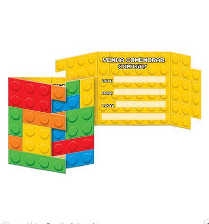 Kit Convite - Bloquinhos - 02 pacotes