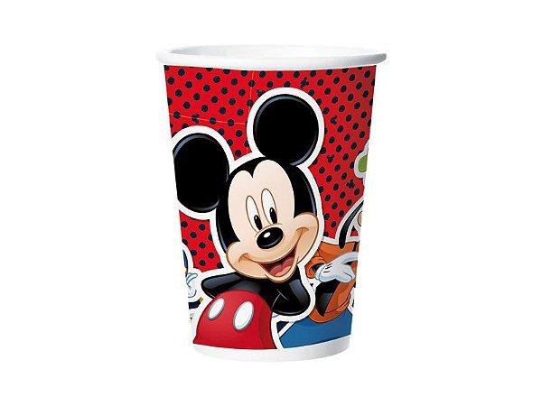 Copo de Papel 180ml - Mickey Mouse Clássico - 08 unidades