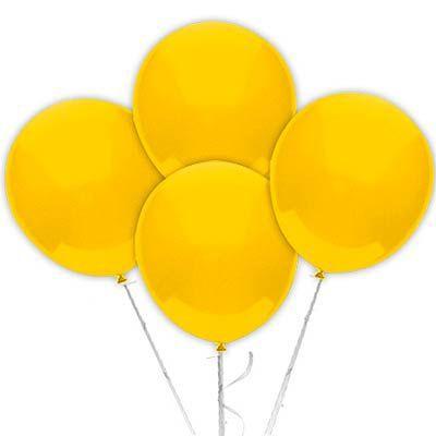 Balão Látex 9 Polegadas - Amarelo - 50 unidades
