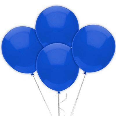 Balão Látex 9 Polegadas - Azul Escuro - 50 unidades