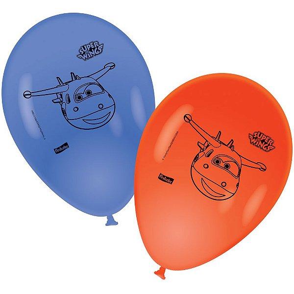 Balão Látex 9 Polegadas - Super Wings - 25 unidades