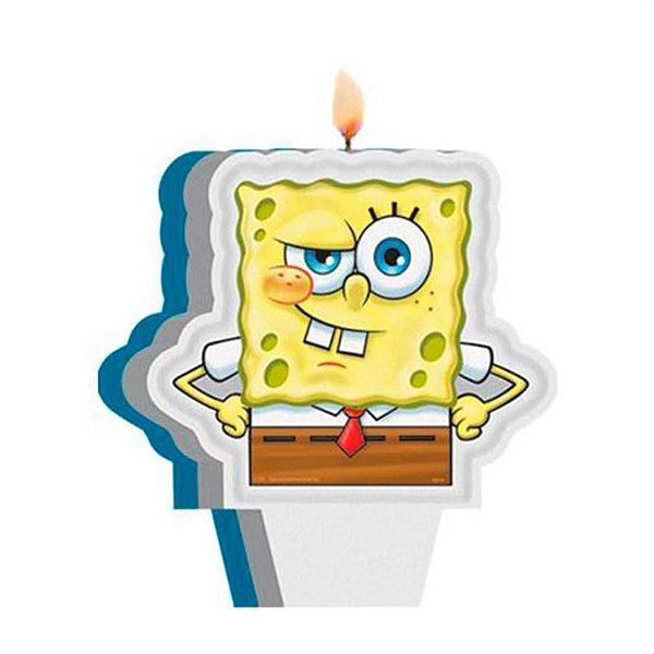 Vela de Aniversário Bob esponja