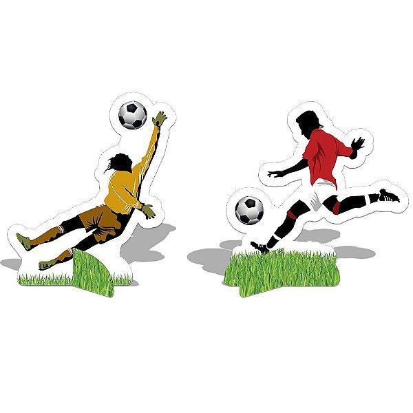 Decoração de Mesa - Apaixonados por Futebol - 8 unidades