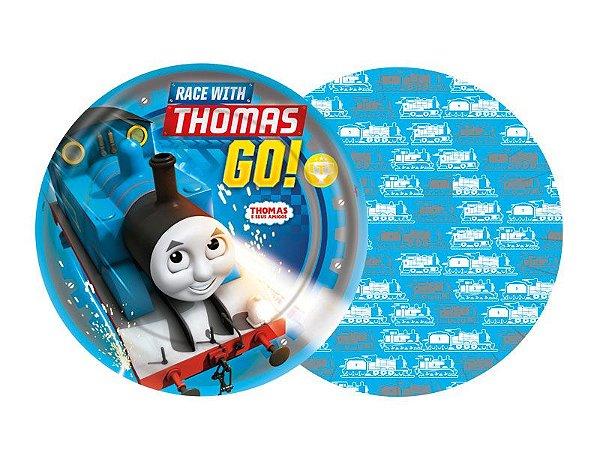 Prato de Papel - Thomas e seus Amigos - 08 unidades