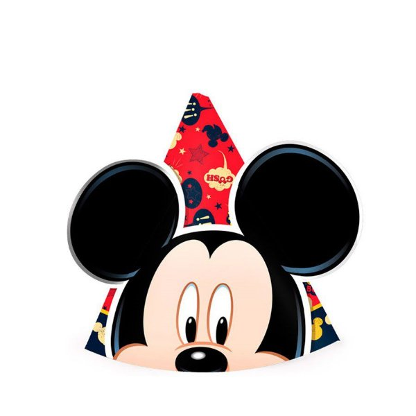 Chapéu de Aniversário - Mickey Clássico - 08 unidades