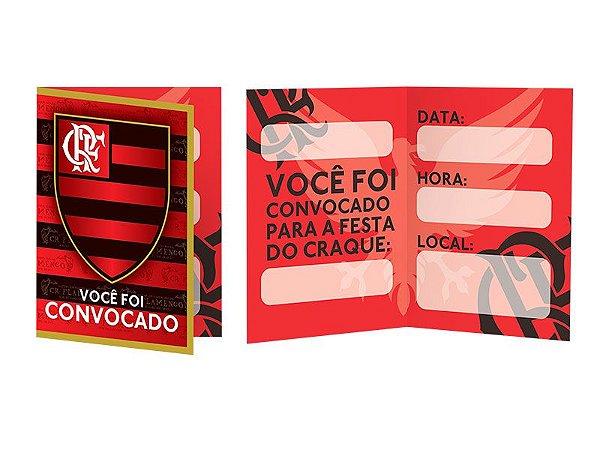 Convite - Flamengo - 08 unidades