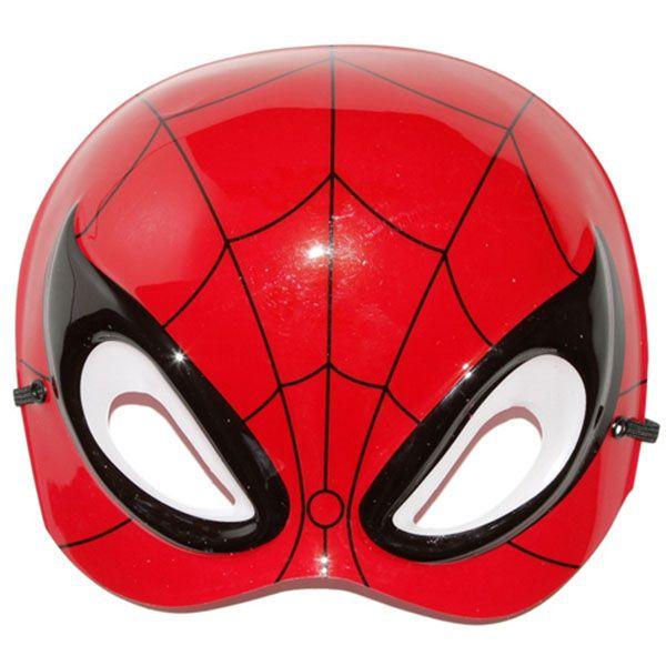 Máscara Plástico Meio Rosto - Homem Aranha