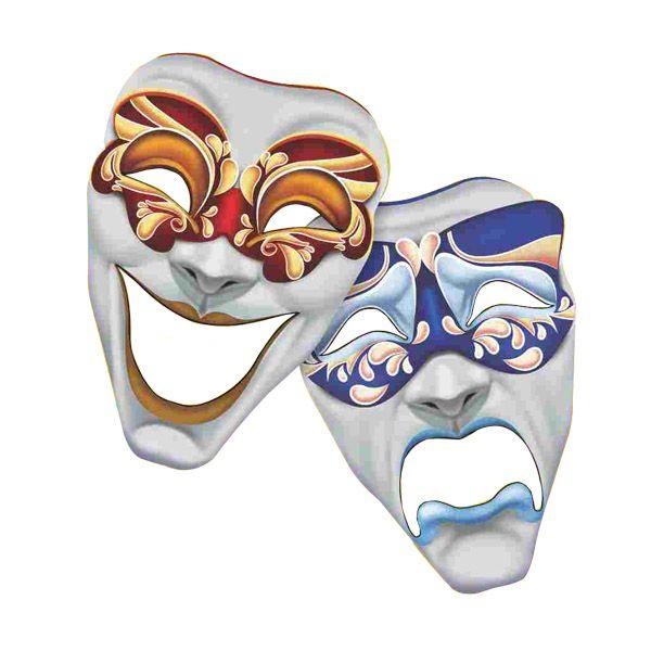 Painel Decorativo - Máscara Teatro - 02 unidades
