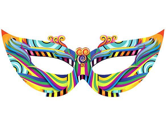 Painel Máscara de Carnaval Grande
