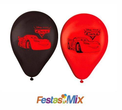Balão latex 9 Polegadas - Carros - 25 unidades