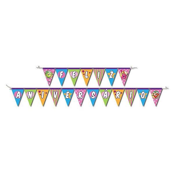 Faixa Feliz Aniversário - Shopkins