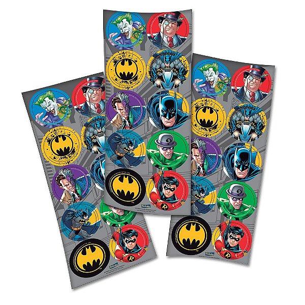 Adesivo Redondo Decorativo - Batman - 03 cartelas