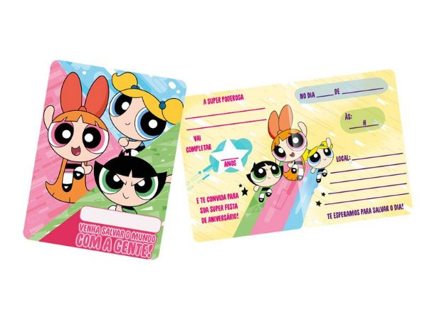Convite - Meninas Super Poderosas - 08 unidades