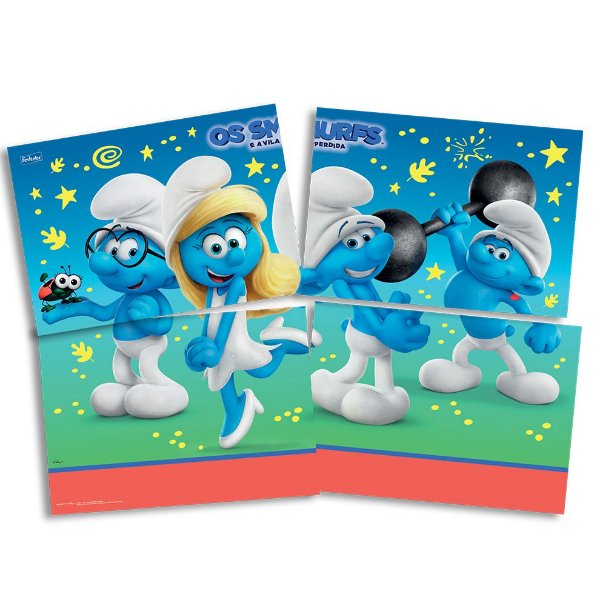 Painel 4 Folhas - Os Smurfs