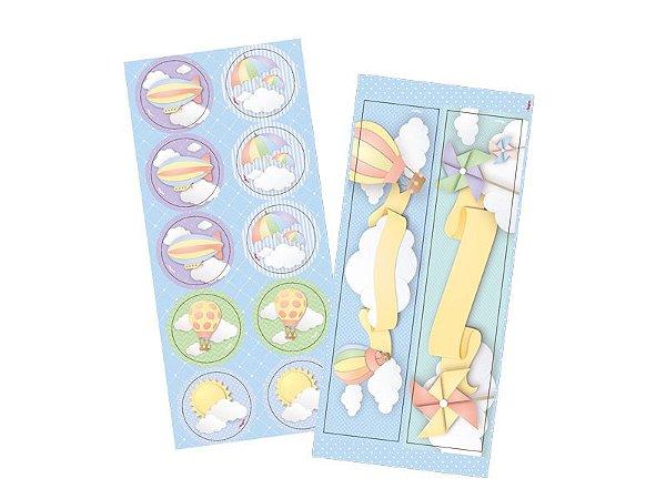 Kit Adesivo para lembrança Nuvem - 03 pacotes