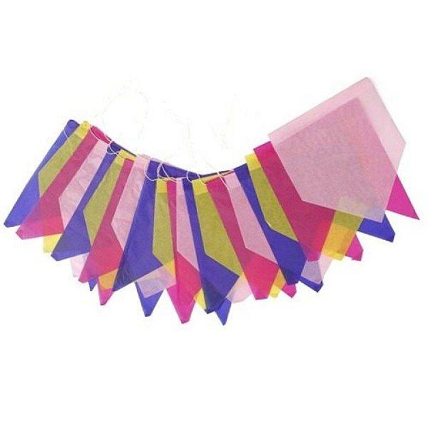 Bandeirinha de Papel Junina - 10 metros