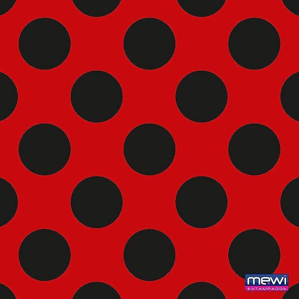TNT Estampado - Bolas Preta - 01 Metro