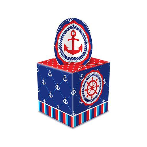 Caixa para Lembrança Marinheiro - 08 unidades