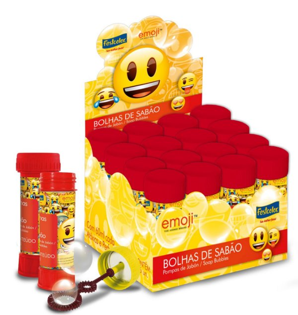Bolha de Sabão Emoji - 60ml - 01 unidades