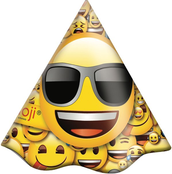 Chapéu de Aniversário - Emoji - 08 unidades