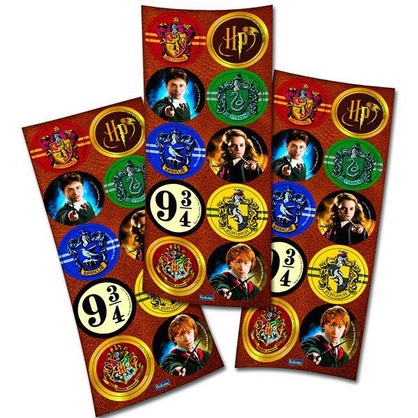 Adesivo Redondo - Harry Potter- 03 cartelas