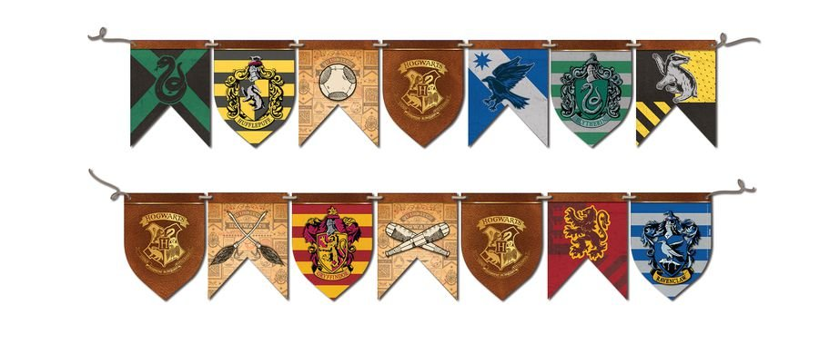 Faixa de Feliz Aniversario Decorativa Harry Potter
