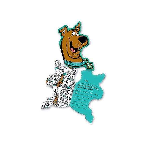 Convite - Scooby Doo - 08 unidades