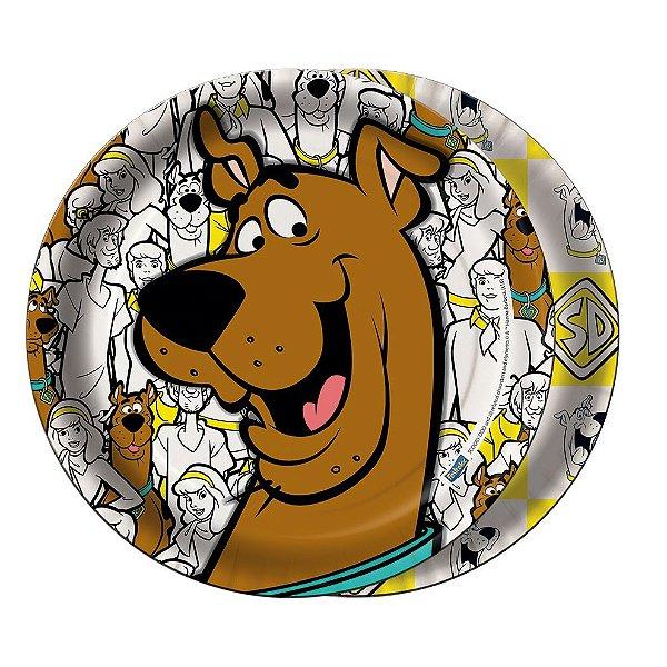 Prato redondo Scooby Doo - 08 unidades