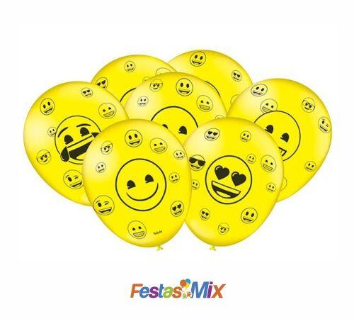 Balão Especial 9 Polegadas - Emoji - 25 unidades