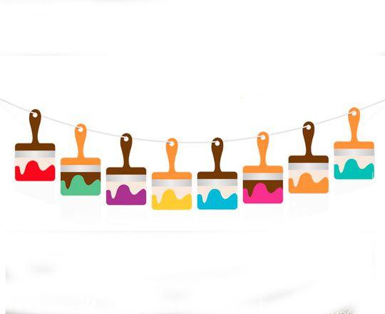 Faixa Decorativa Pincel - Festa das Cores