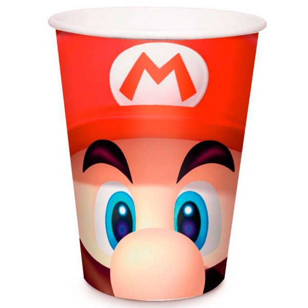 Copo de Papel 240ml - Super Mario Bros - 08 unidades