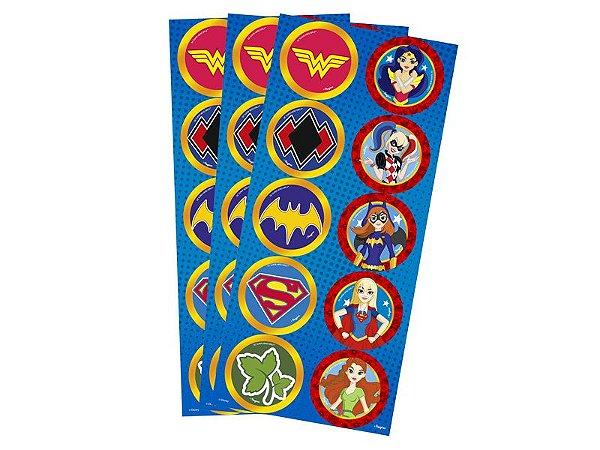 Adesivo Redondo Decorativo - Super Hero Girl - 30 und