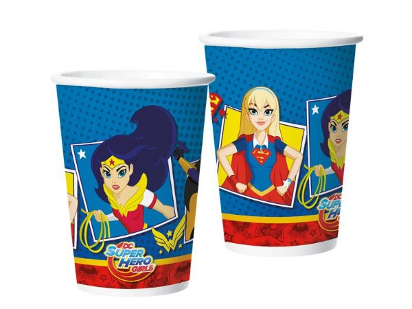 Copo de Papel 180ml - Super Hero Girl - 08 unidades