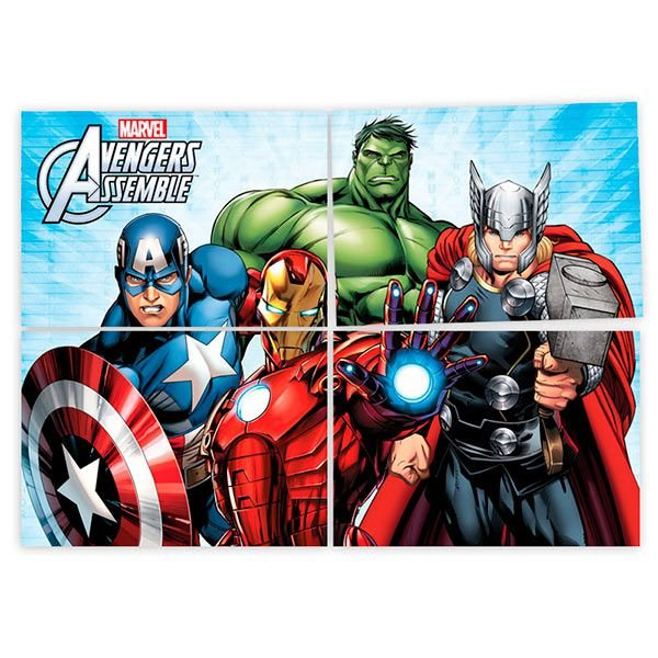 Painel 4  Folhas - Os Vingadores Animated