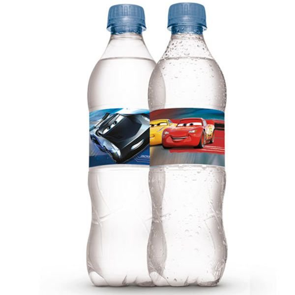 Adesivo Rótulo para Garrafa Cars 3 - 3 cartelas