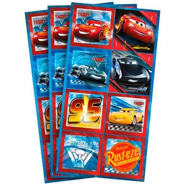 Adesivo Quadrado - Carros 3 - 03 cartelas
