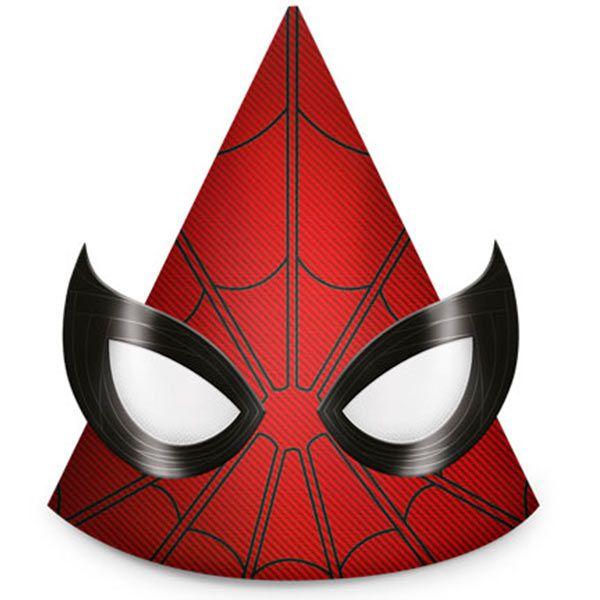 Chapéu de Aniversário - Homem Aranha Home  - 08 unidades