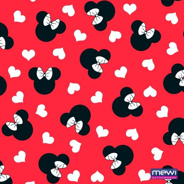 TNT Estampado - Minnie Mouse - 05 Metros