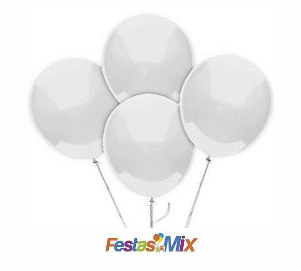 Balão Látex 6,5 Polegadas - Branco - 50 unidades