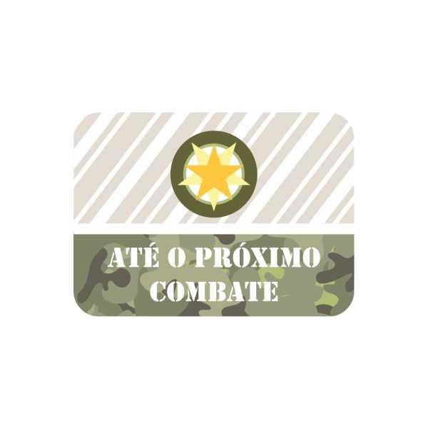 Adesivo Lembrança- Festa Militar - 20 unidades