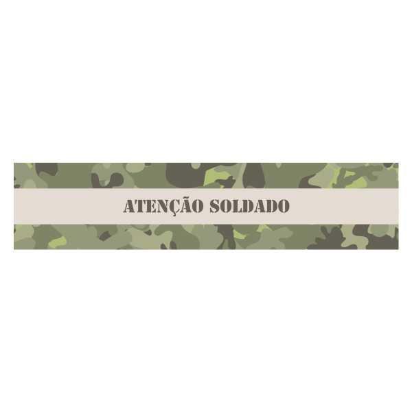 Adesivo Retangular para Garrafa- Festa Militar- 08 und