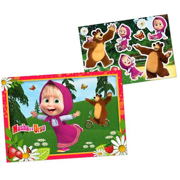 Kit Decorativo - Masha e o Urso