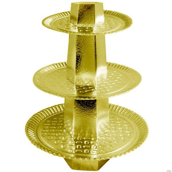 Baleiro 3 Andares - Dourado